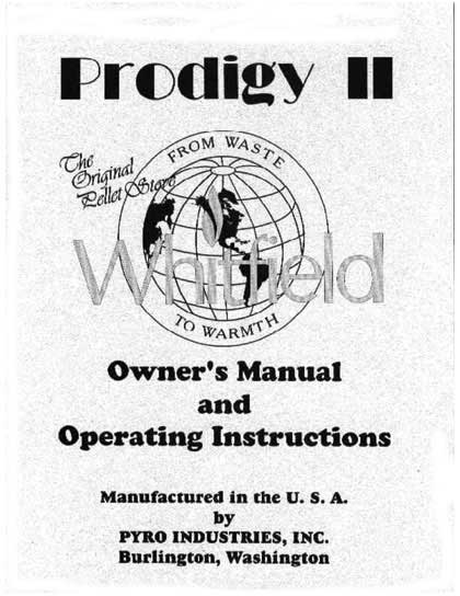 Whitfield Prodigy II Owner's Manual