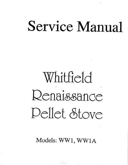 Whitfield Renaissance Service Manual