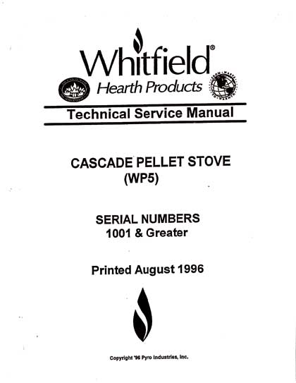 Whitfield Cascade Service Manual