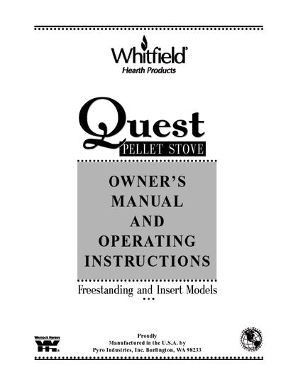 Whitfield Quest Owner's Manual