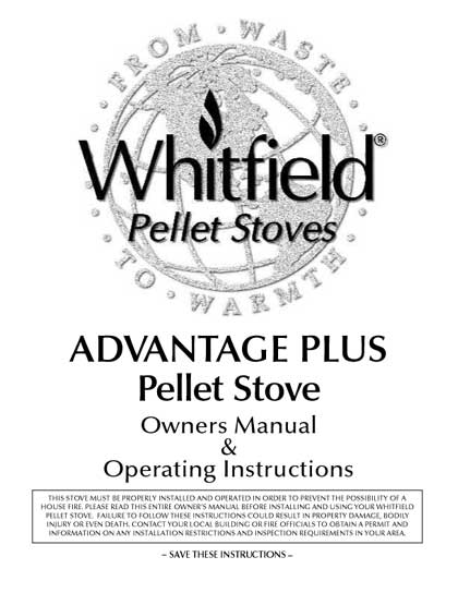 Whitfield Advantage Plus Owner's Manual