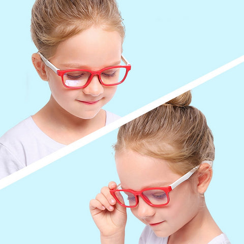 Anti Glare Filter Children Eyeglasses Girl Boy Optical Frame Blocking Clear Lenses Kids