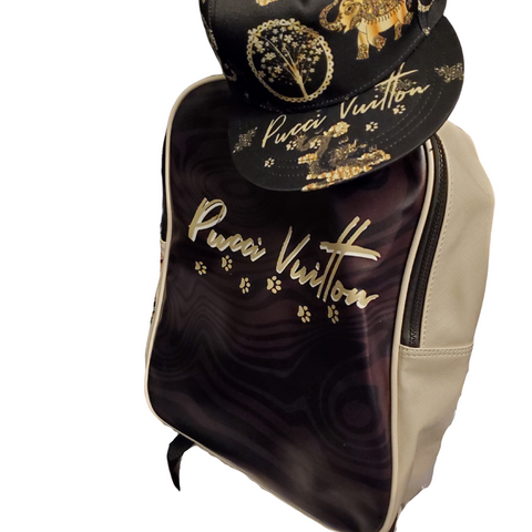 Pucci Vitton Backpack Luxury for your pet, dog, cat animal,
