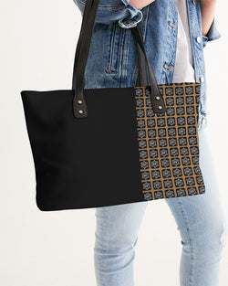 ENE Black/Brown Split Stylish Tote