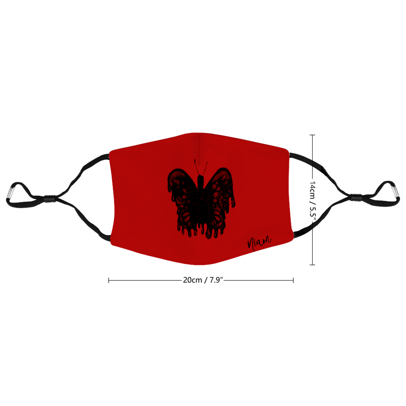 Dark Butterfly Customized Face Mouth Mask