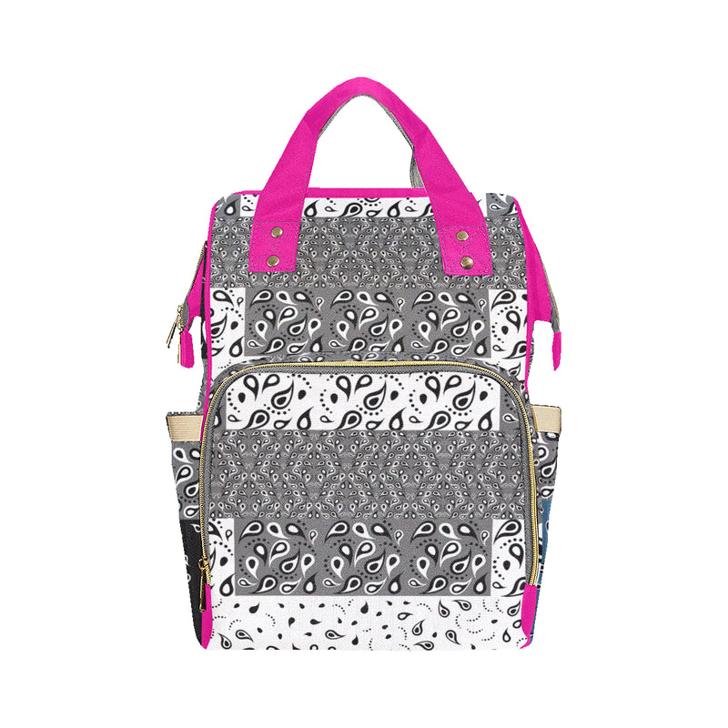 paisley pattern AAB Multi-Function Backpack