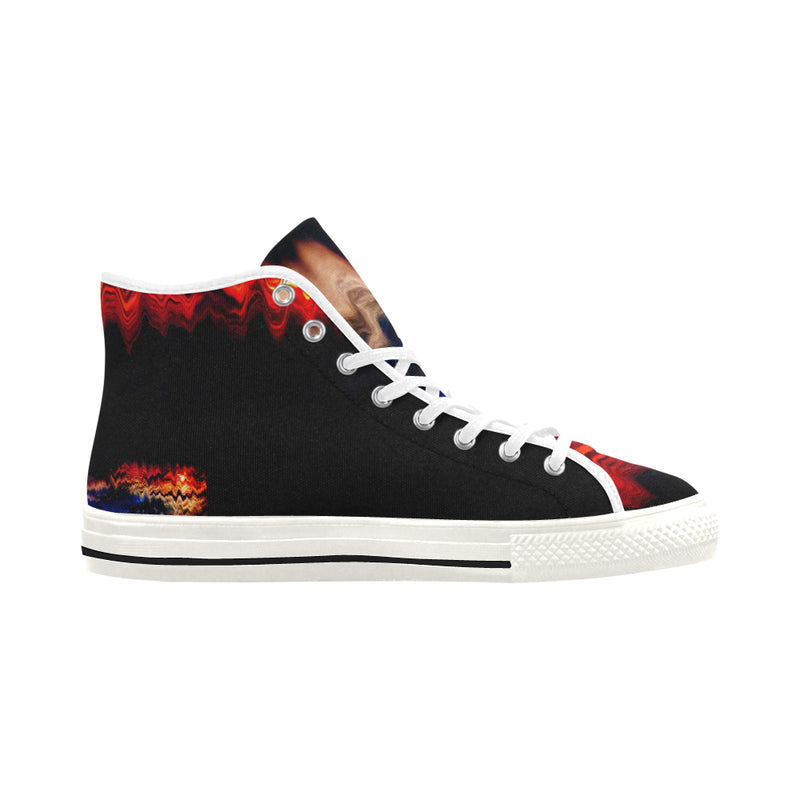 """MELTED SUNSET II"" Men's Canvas Sneakers - ENE TRENDS"