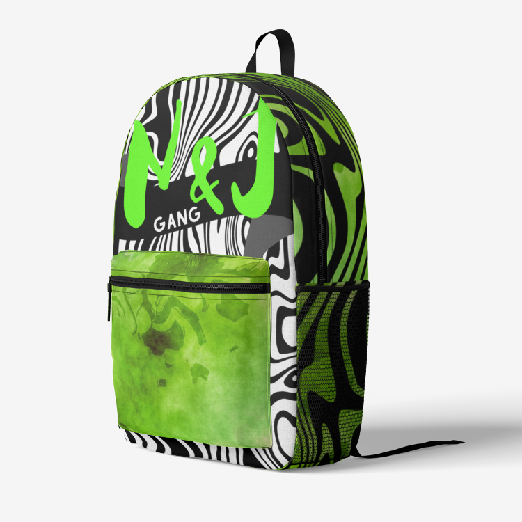 NJ GANG II Trendy Retro Print Backpack