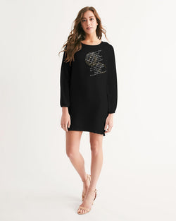 Note to self Long Sleeve Chiffon Dress