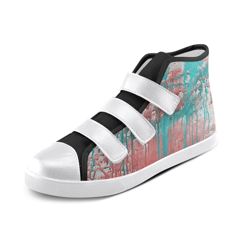 ELYSE DRIPin ART MANIFESTED Velcro High Top Canvas Kid's Shoes - ENE TRENDS