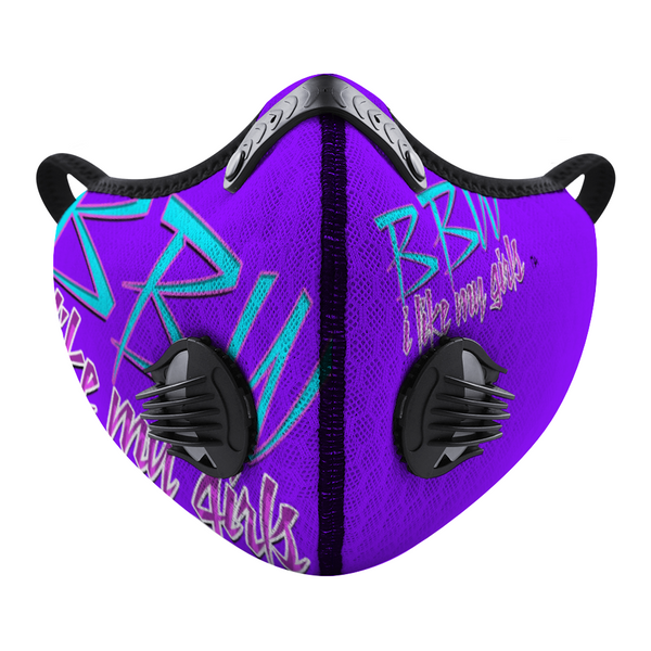BBW Grape Custom Face Cover Brian Angel Collection