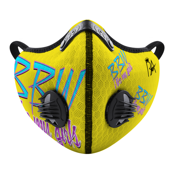 BBW Yellow Custom Face Cover Brian Angel Collection