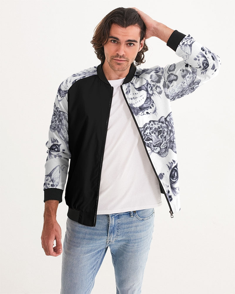 Hidden Dangers Handmade Men's Bomber Jacket
