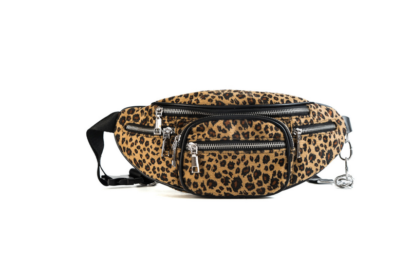 Leopard Fashion Chest Bag Dual-use Multi-function Waist Bag