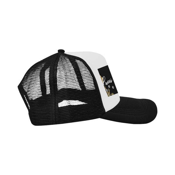 Pucci Vuitton Gold Elements Signature Logo - B/W Trucker Hat