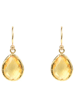 Petite Drop Earring Citrine Hydro Gold
