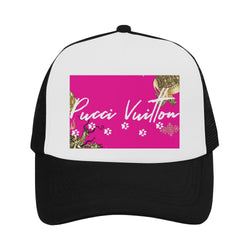 Pucci Vuitton Gold Elements Signature Logo 1- P/W Trucker Hat