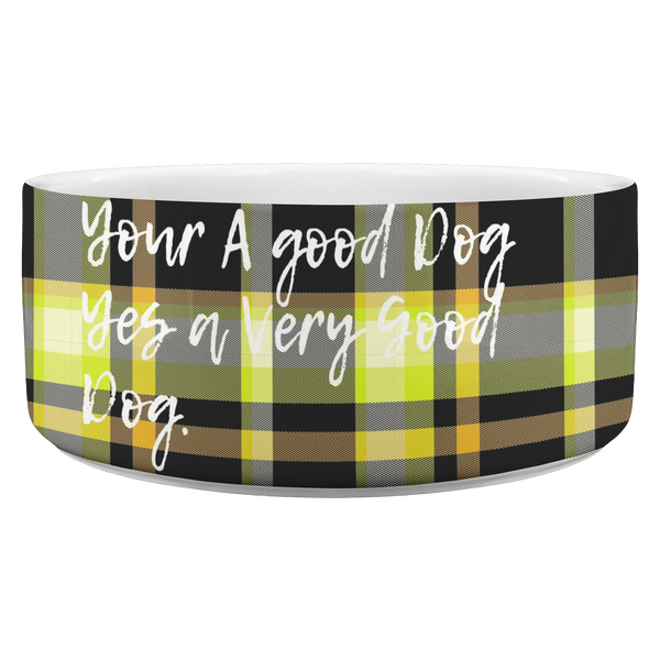 Designer FurBerry Custom Name Dog Bowl