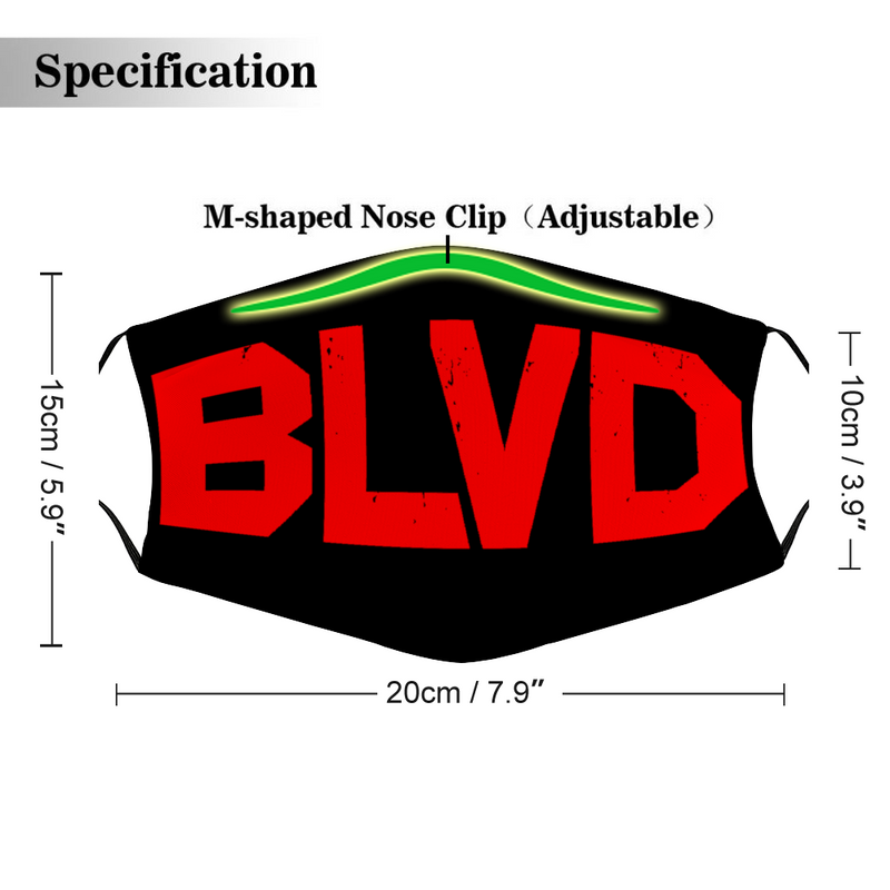 BLVD 3 Customized Face Cover Without Filter for Adult