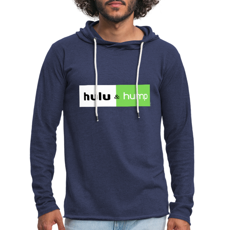 Hulu and Hump Unisex Lightweight Terry Hoodie - heather navy
