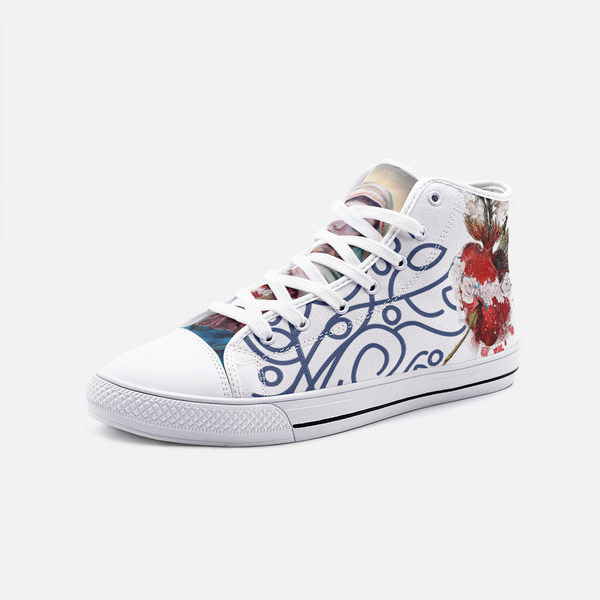 Mary Sacred Heart Unisex High Top Canvas Shoes