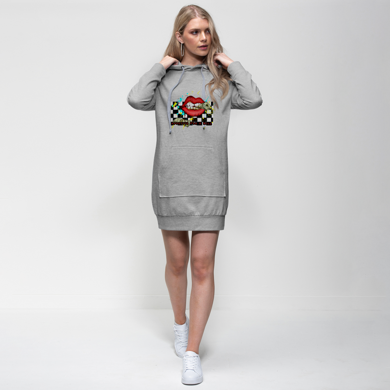 MONEY HUNGRY TIME FOR A MILL Premium Adult Hoodie Dress (Brian Angle Collection) - ENE TRENDS