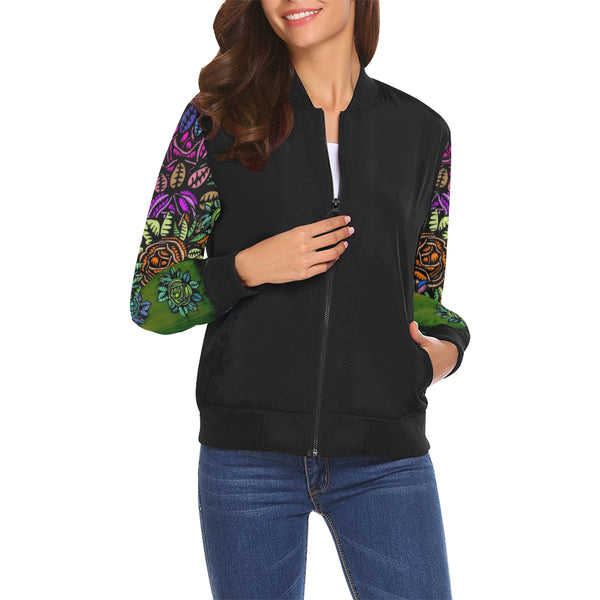 BLOOMIN ART MANIFESTED Bomber Jacket for Women