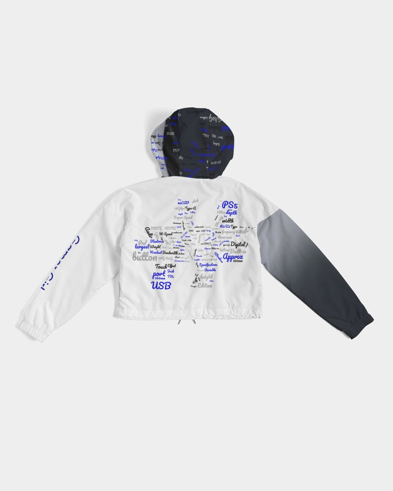 Exclusive PS5 Customized Women's Cropped Windbreaker