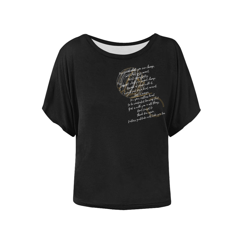 Note to self Women's Batwing-Sleeved Blouse T shirt