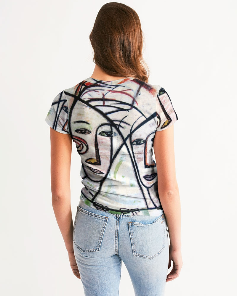 Abstract Gemini Handmade Women's Tee