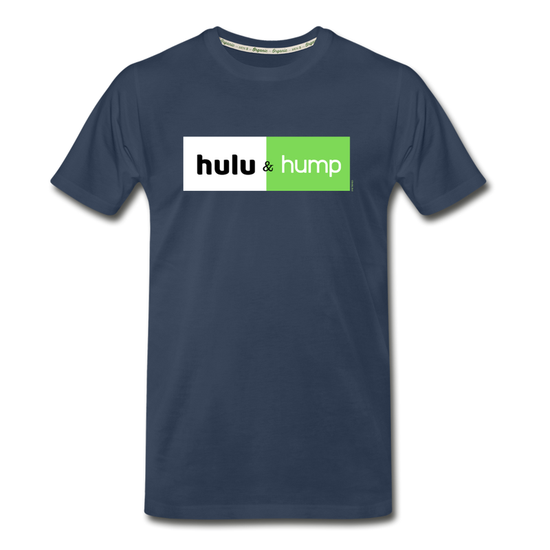 Hulu & Hump double-sided print Men's Premium Organic T-Shirt (Eco-friendly) - navy