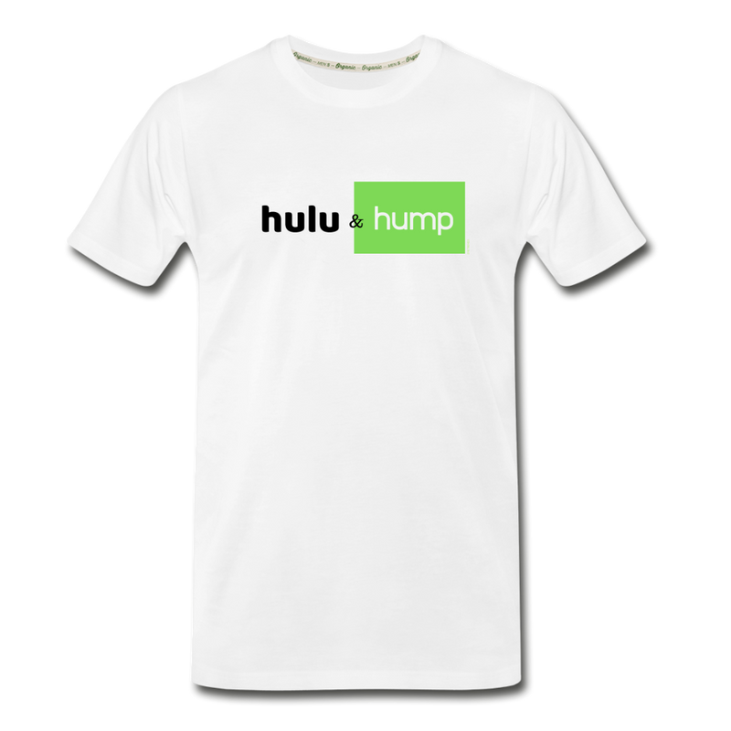 Hulu & Hump double-sided print Men's Premium Organic T-Shirt (Eco-friendly) - white