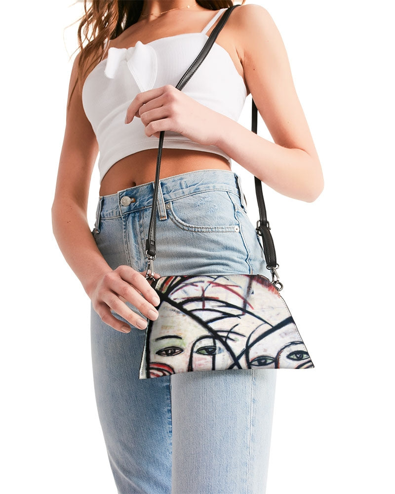 Abstract Gemini Luxury Handmade Wristlet