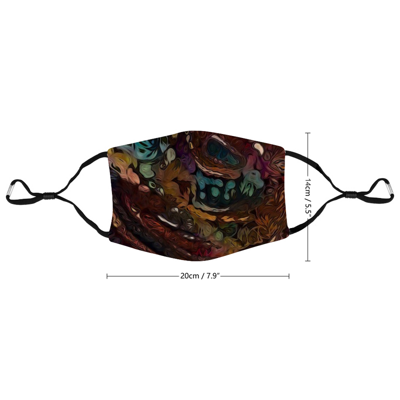 Mud Marble Customized Face Mouth Mask Cover