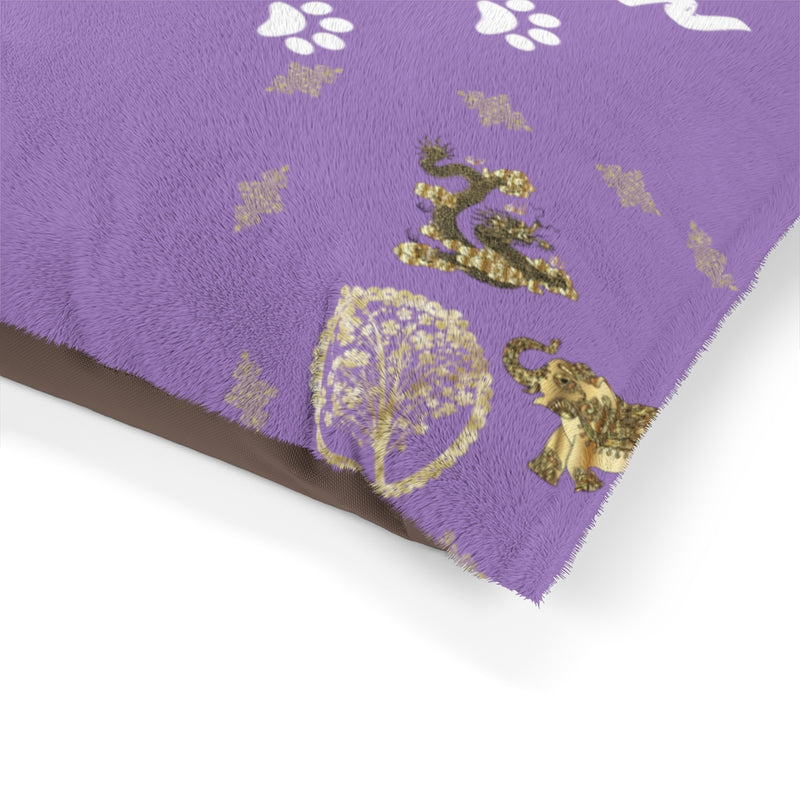 Pucci Vuitton 3 Lucky Elements Purple Pet Bed
