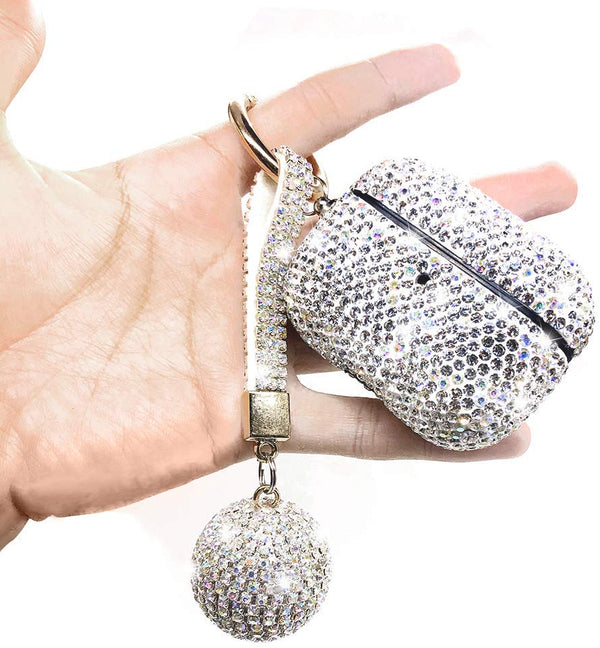 Luxury Crystal AirPod 3 Pro Case Cover w/Keychain
