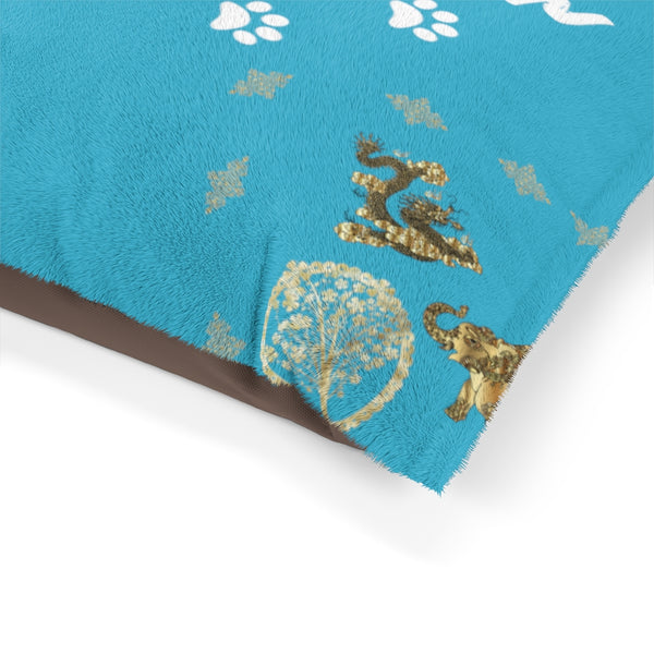 Pucci Vuitton 3 Lucky Elements Turquoise Pet Bed
