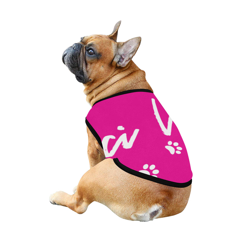 Pucci Vuitton Logo - Pink All Over Printed Pet Tank Top