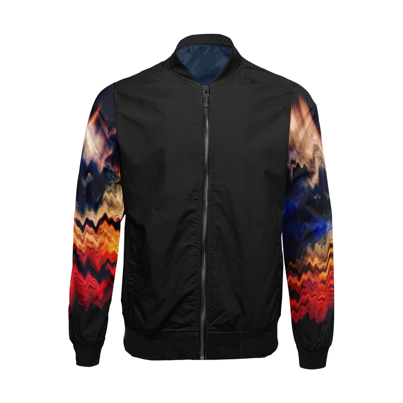 Melted Sunset II All Over Print Bomber Jacket for Men - ENE TRENDS