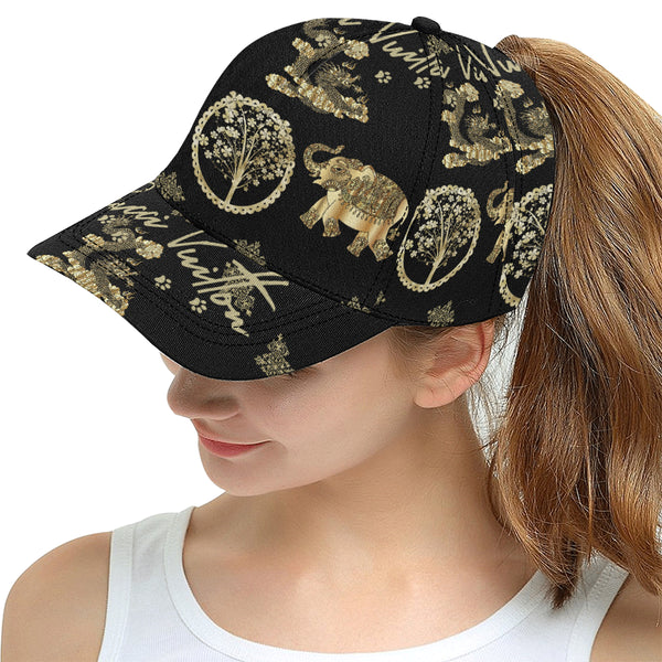 Pucci Vuitton 3 elements gold 2 All Over Print Snapback Hat D