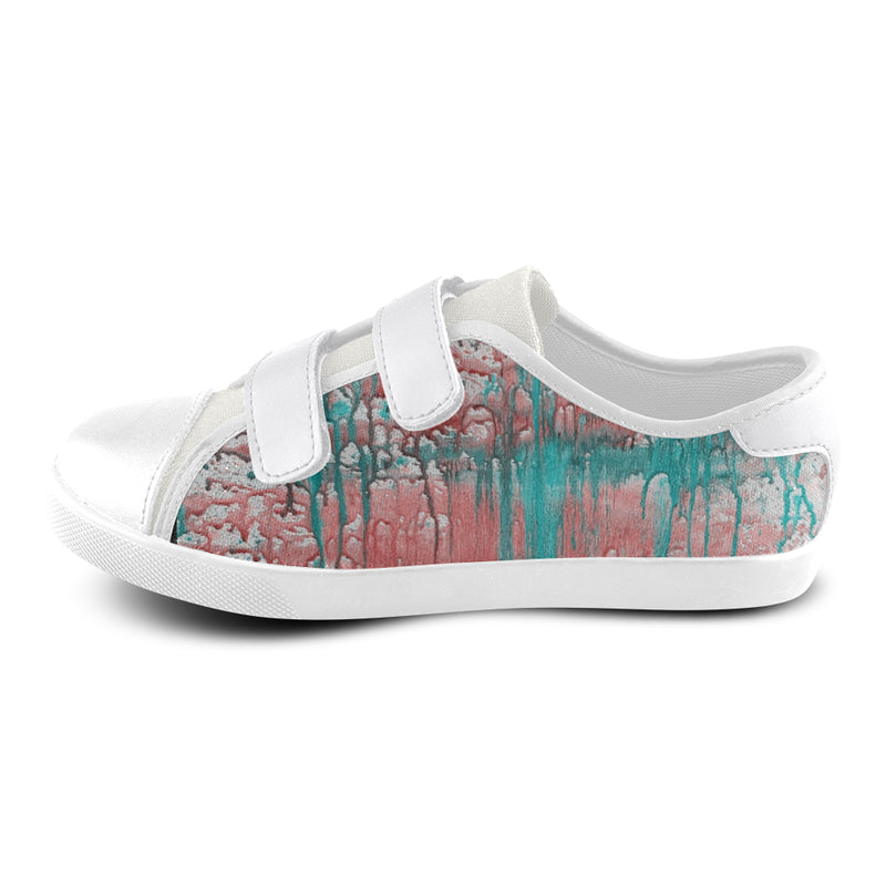 ELYSE DRIPin ART MANIFESTED Velcro Canvas Kid's Shoes (Model 008) - ENE TRENDS