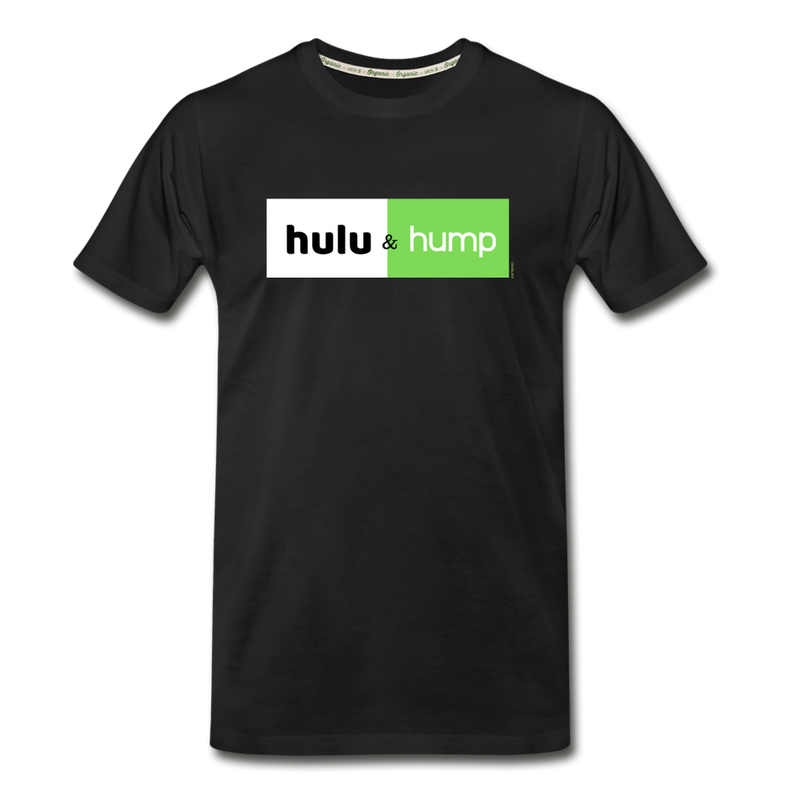 Hulu & Hump double-sided print Men's Premium Organic T-Shirt (Eco-friendly) - black