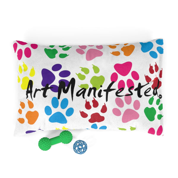 Pawfect Art Pet Bed in White