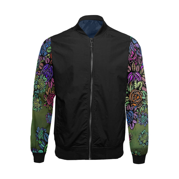 BLOOMING BOSS Bomber Jacket for Men by ART MANIFESTED