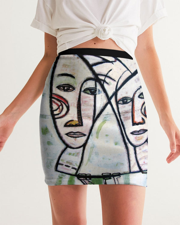 ABSTRACT GEMINI Women's Mini Skirt