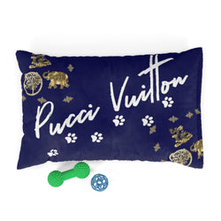 Pucci Vuitton 3 Lucky Elements Navy Pet Bed