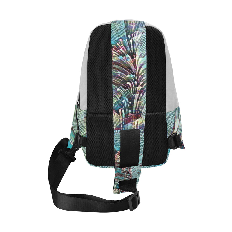 Tsunami Abstract Chest Bag