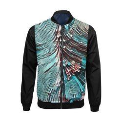 """TSUNAMI"" Abstract Bomber Jacket for Men - ENE TRENDS"