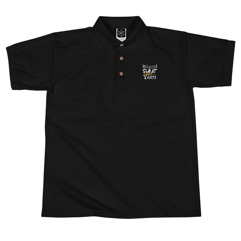 Blood Sweat And Years Embroidered Polo Shirt (Motiv8Me Collection)