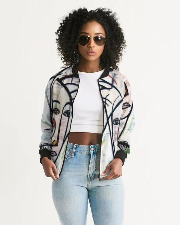 Abstract Gemini Women's Bomber Jacket